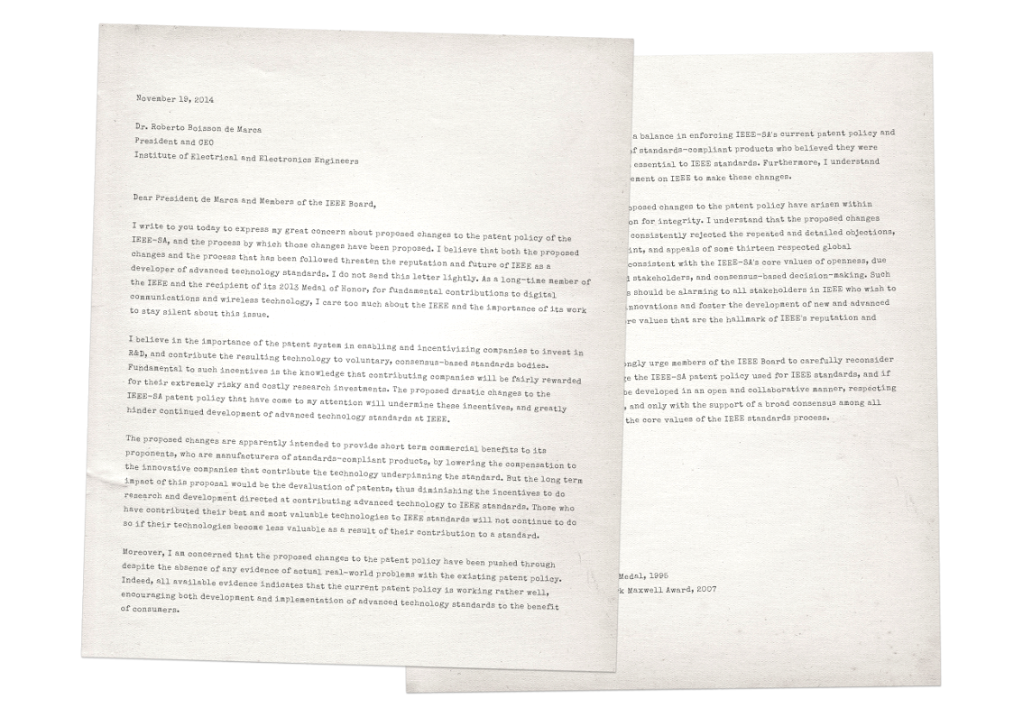 Letter from Irwin Mark Jacobs